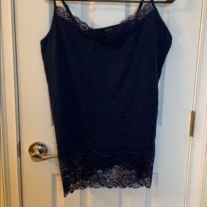 NWOT navy blue lace cami size 1XL